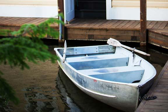 Row Boat at Dock