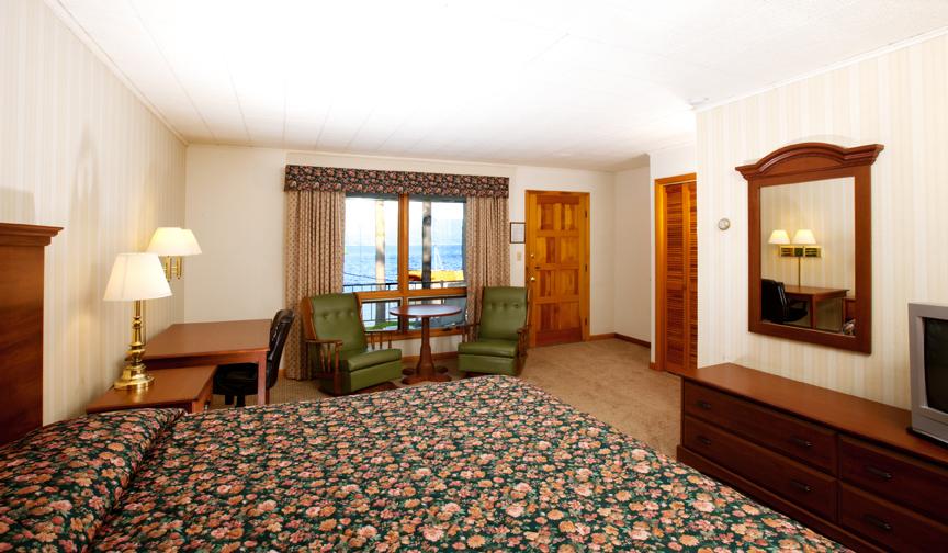 King bed motel room