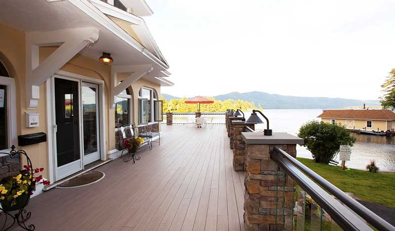 Deck on Lake George