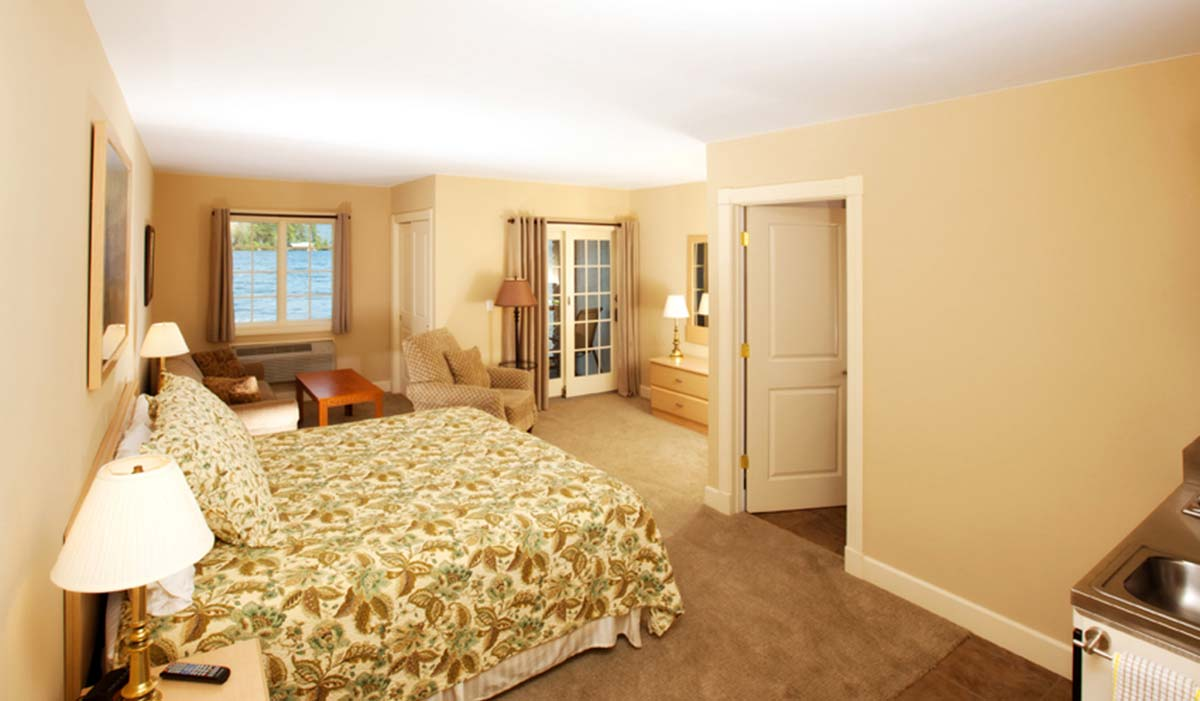 Floral print bed in bedroom suite